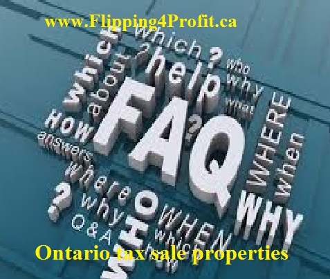Ontario Tax Sale properties-FAQ