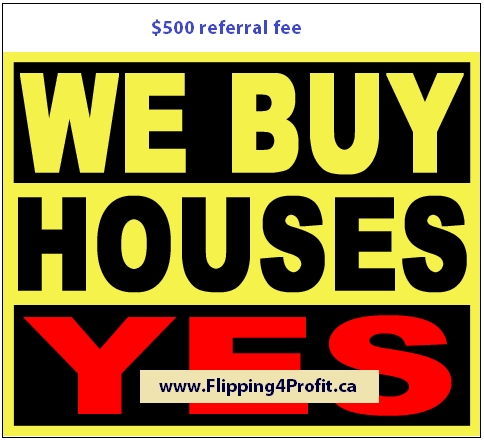 We buy houses in Canada