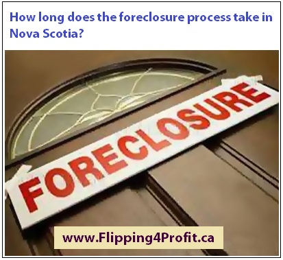 How long does the foreclosure process take in Nova Scotia?