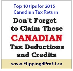 Top 10 Tips For 2015 Canadian Tax Return