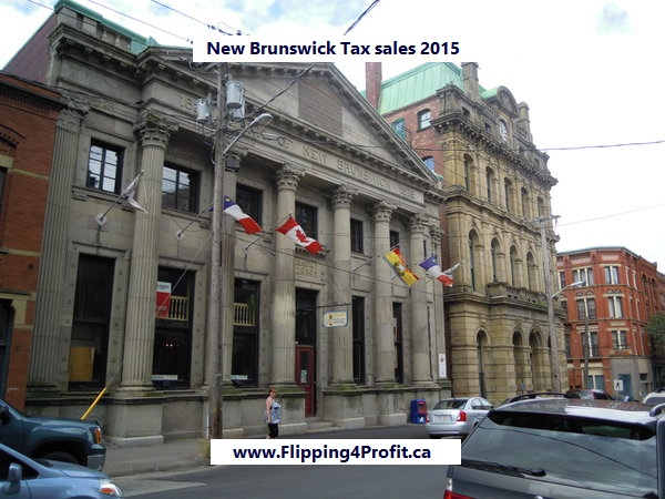 New Brunswick tax sales 2015