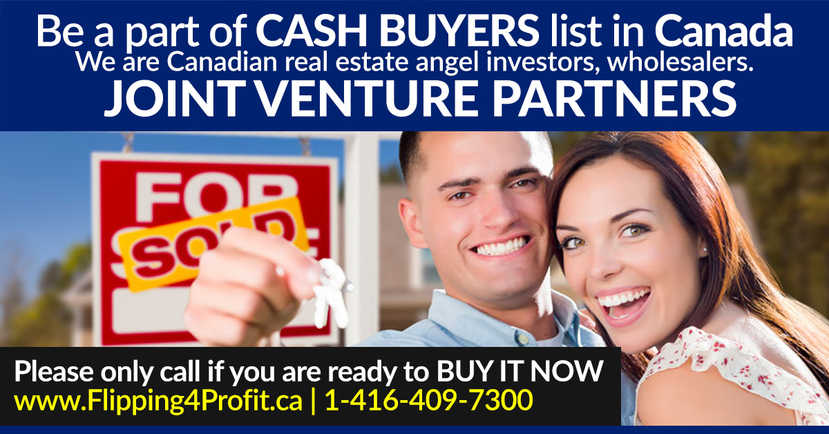 Canadian Cash Buyers in Real Estate