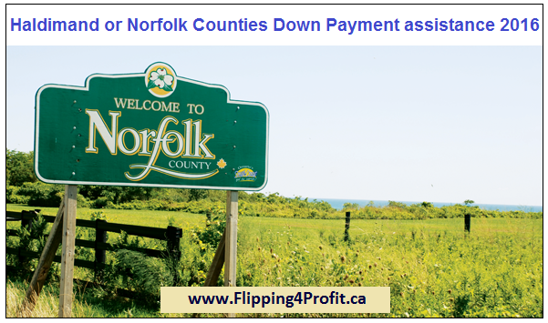 Haldimand or Norfolk Counties Down Payment Assistance 2016