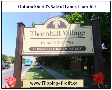 Ontario Sheriff's Sale of Lands, Thornhill