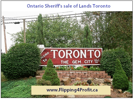 Ontario Sheriff's Sale of Lands 19 Church Avenue, Toronto