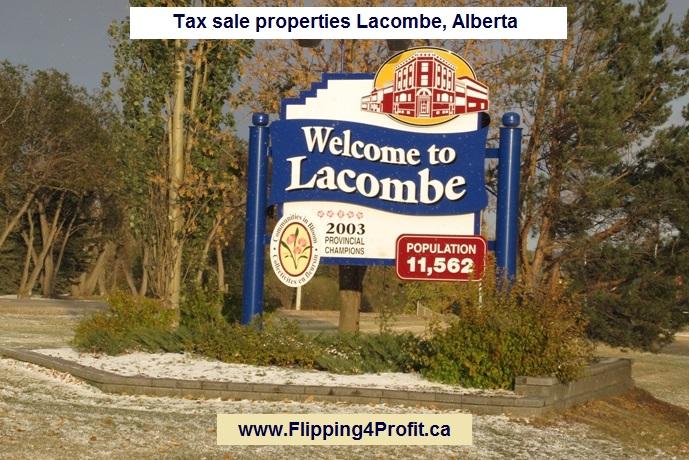 Tax sale properties Lacombe, Alberta