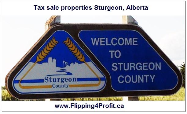 Tax sale properties Sturgeon, Alberta