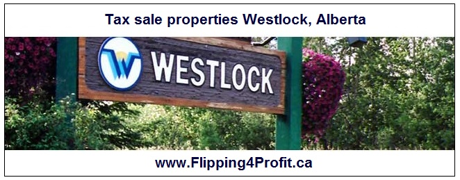 Tax sale properties Westlock, Alberta