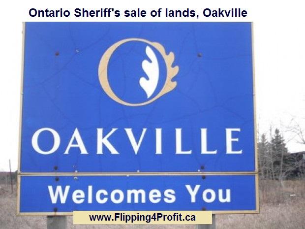 Ontario Sheriff's Sale of lands, Oakville