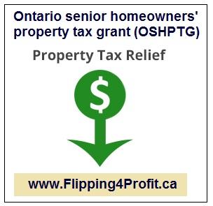 Ontario senior homeowners' property tax grant (OSHPTG)