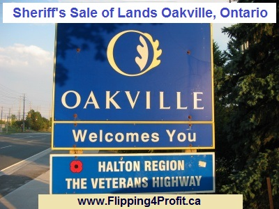Sheriff's Sale of Lands Oakville, Ontario