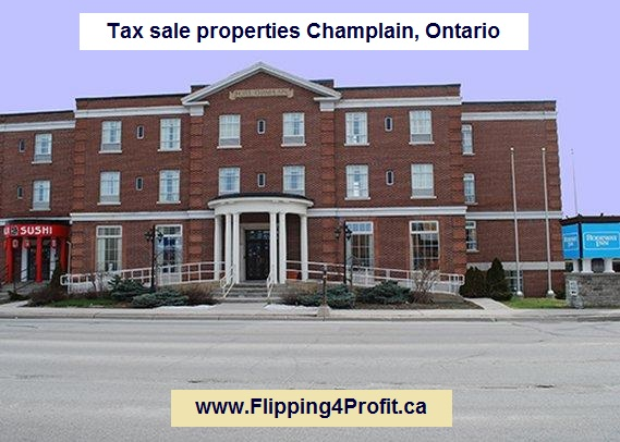 Tax sale properties Champlain, Ontario