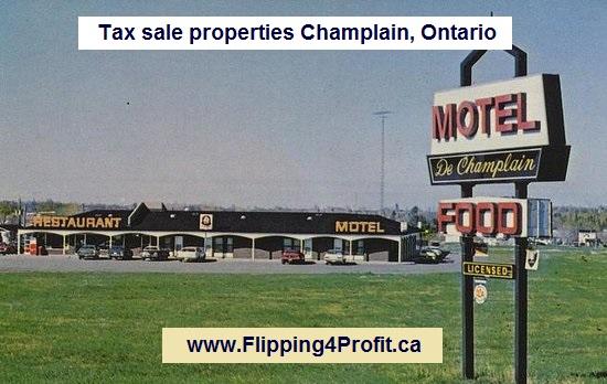 Tax sale properties Champlain, Ontario