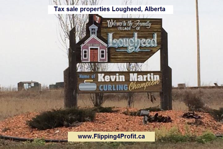 Tax sale properties Lougheed, Alberta