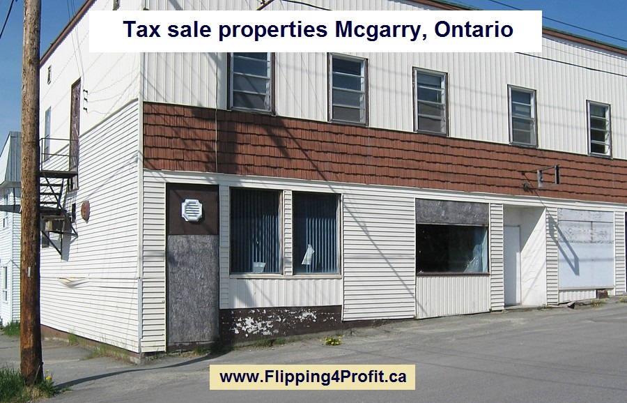 Tax sale properties Mcgarry, Ontario