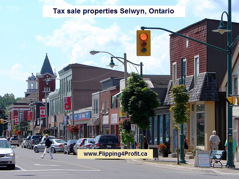 Tax sale properties Selwyn, Ontario