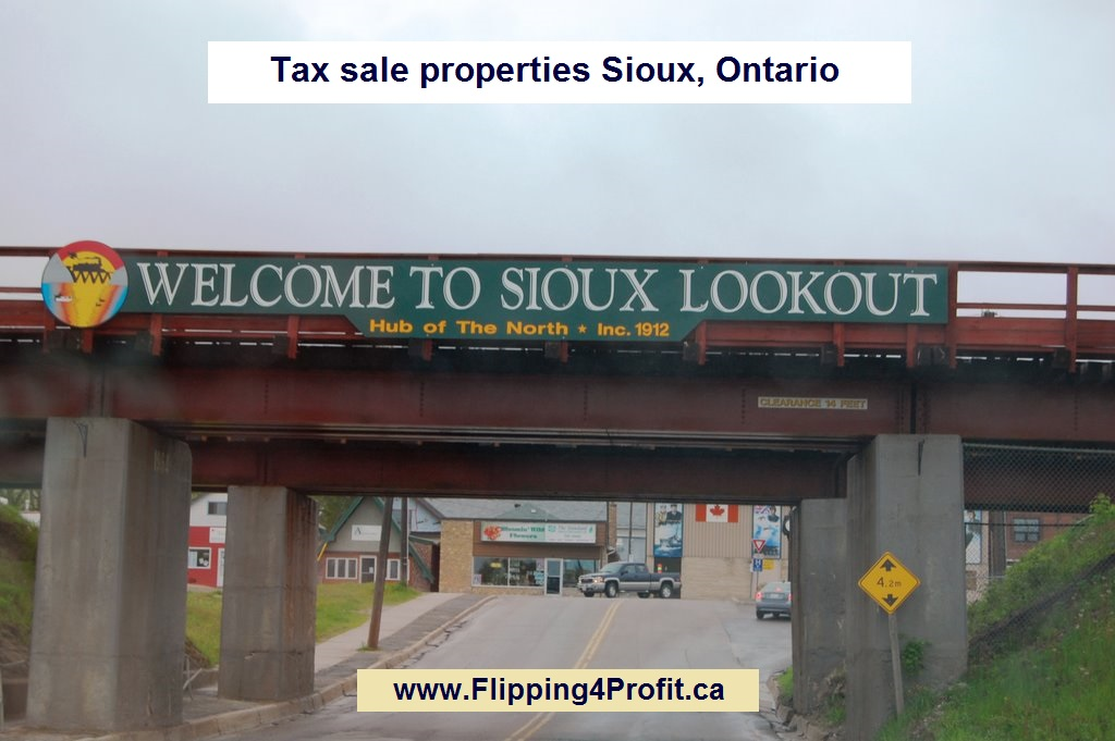 Tax sale properties Sioux, Ontario