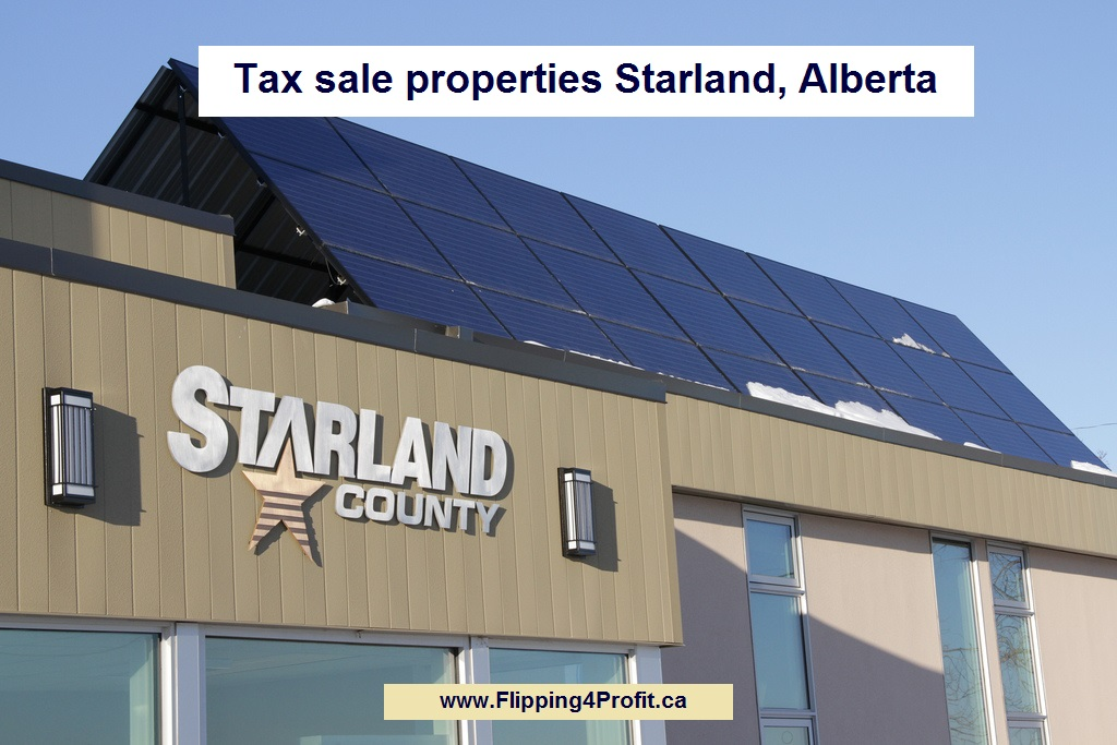 Tax sale properties Starland, Alberta