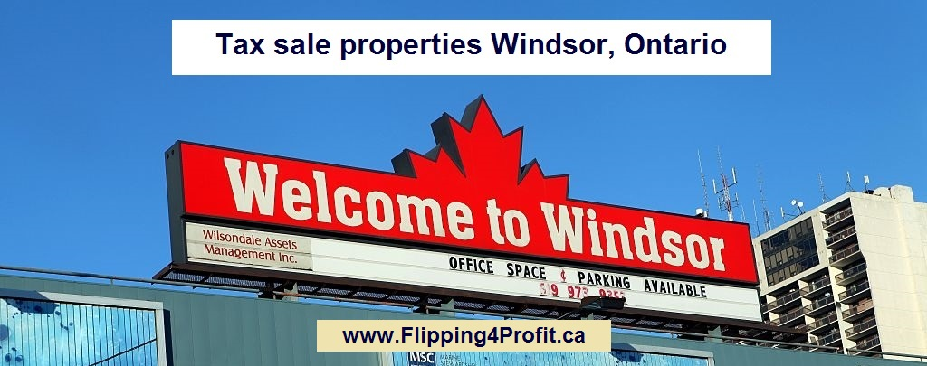 Tax sale properties Windsor, Ontario