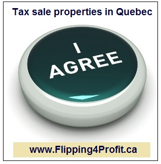 ​Conditions for bidding on Tax sale properties in Quebec