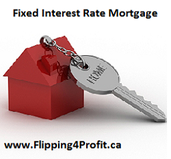 Fixed interest rate mortgage