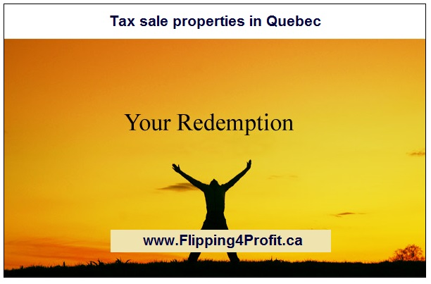 Redemption Right for Tax sale properties in Quebec