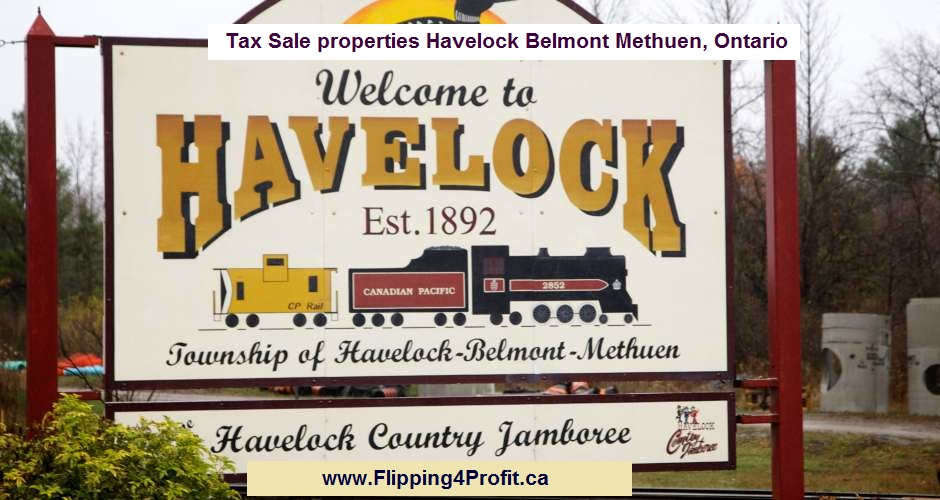 Tax Sale properties Havelock Belmont Methuen, Ontario
