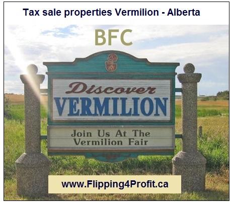 Tax sale properties Vermillion - Alberta