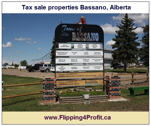 Tax sale properties Bassano, Alberta