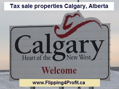 Tax sale properties Calgary, Alberta