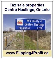 Tax sale properties Centre Hastings, Ontario