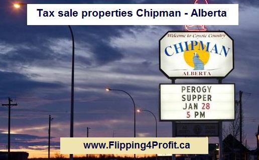 Tax sale properties Chipman - Alberta