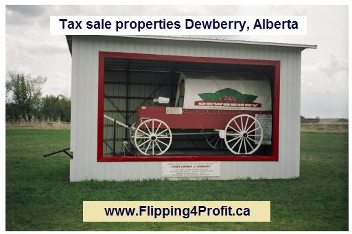 Tax sale properties Dewberry, Alberta