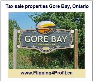 Tax sale properties Gore Bay, Ontario