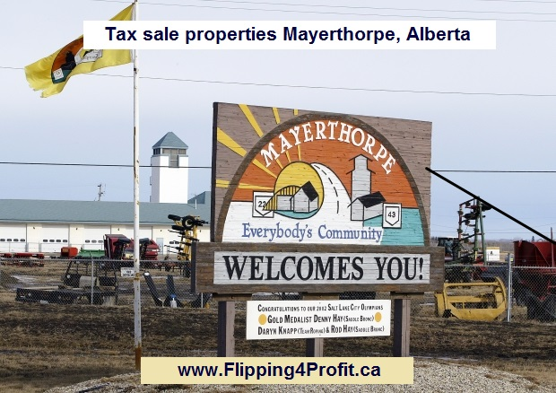 Tax sale properties Mayerthorpe, Alberta