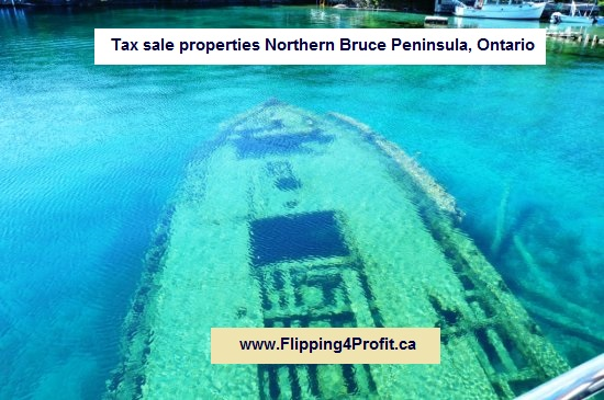 Tax sale properties Northern Bruce Peninsula, Ontario
