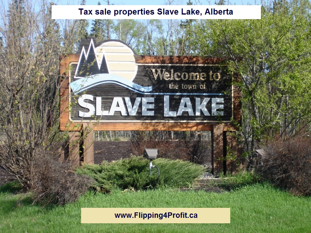 Tax sale properties Slave Lake, Alberta