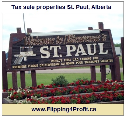 Tax sale properties St. Paul, Alberta