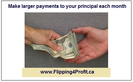 Make larger payments to your principal each month