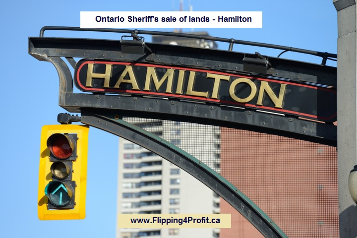 Ontario Sheriff's sale of lands - Hamilton