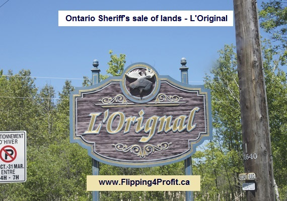 Ontario Sheriff's sale of lands - L'Original