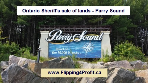Ontario Sheriff's Sale of Lands - Parry Sound