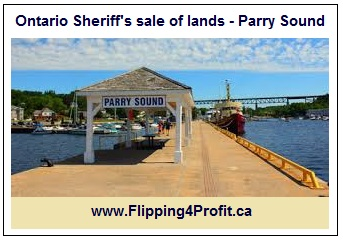 Ontario Sheriff's sale of lands Parry Sound - Ontario