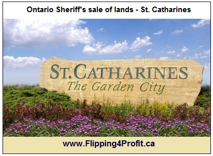 Ontario Sheriff's sale of lands - St. Catherines