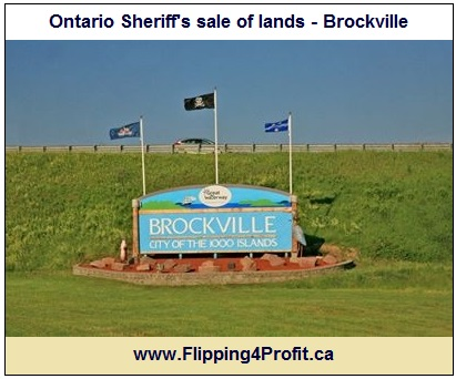 Ontario Sheriff's sale of lands - Brockville