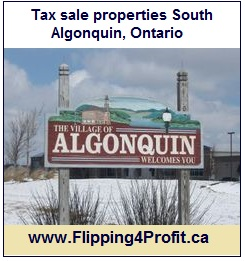 Tax sale properties South Algonquin, Ontario