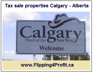 Tax sale properties Calgary - Alberta