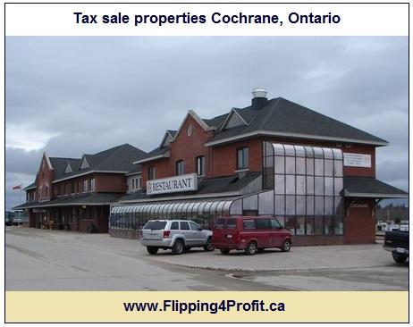 Tax sale properties Cochrane, Ontario