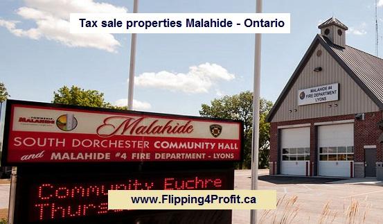 Tax sale properties Malahide - Ontario