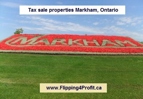 Tax sale properties Markham, Ontario